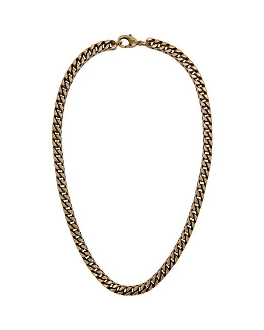 Balenciaga - Black Collier en chaine dore for Men - Lyst