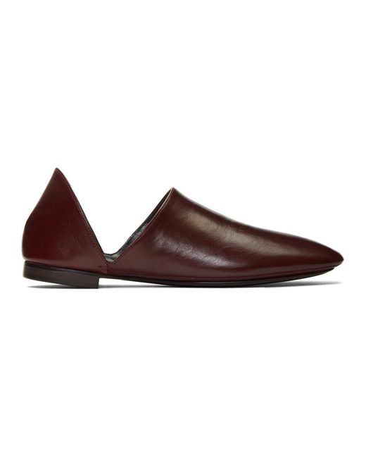 Lemaire Brown Burgundy Babouche Loafers