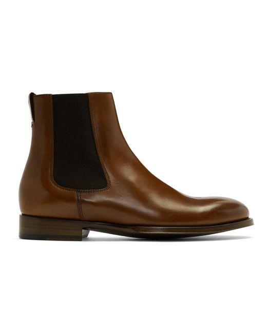 Paul Smith - Brown Tan Joyce Chelsea Boots for Men - Lyst