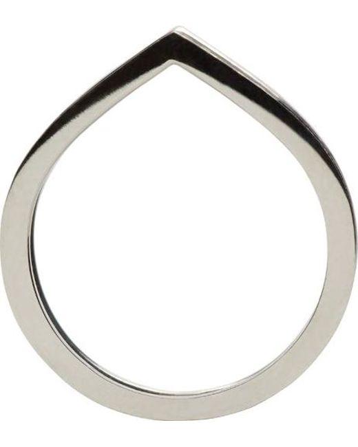 Repossi   Metallic Black Gold Pavé Diamond Double Antifer Ring   Lyst