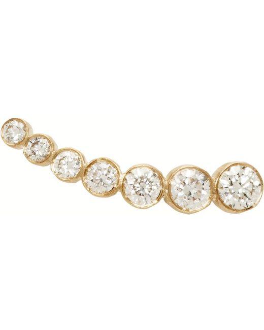 Sophie Bille Brahe   Metallic Gold Petit Croissant De Lune Single Earring   Lyst
