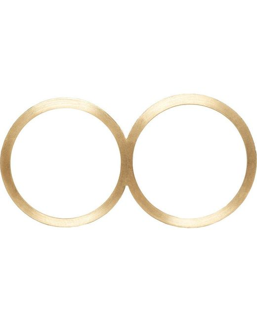 Sophie Bille Brahe   Metallic Gold Rue De Diamant Double Ring   Lyst