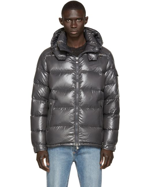 Moncler | Gray Charcoal Quilted Down Maya Jacket for Men | Lyst