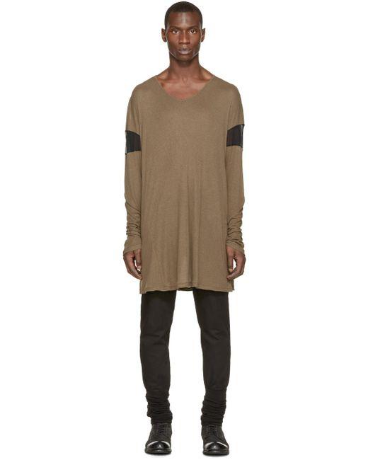 Ann Demeulemeester | Green Overlong T-shirt for Men | Lyst