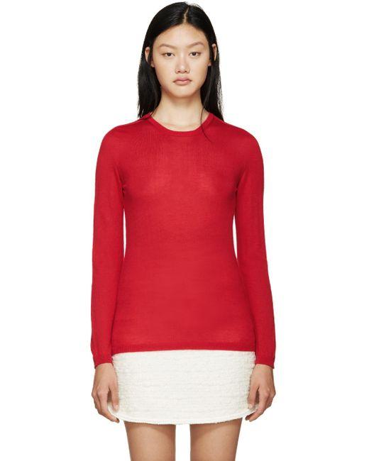 Giambattista Valli   Red Cashmere Sweater   Lyst