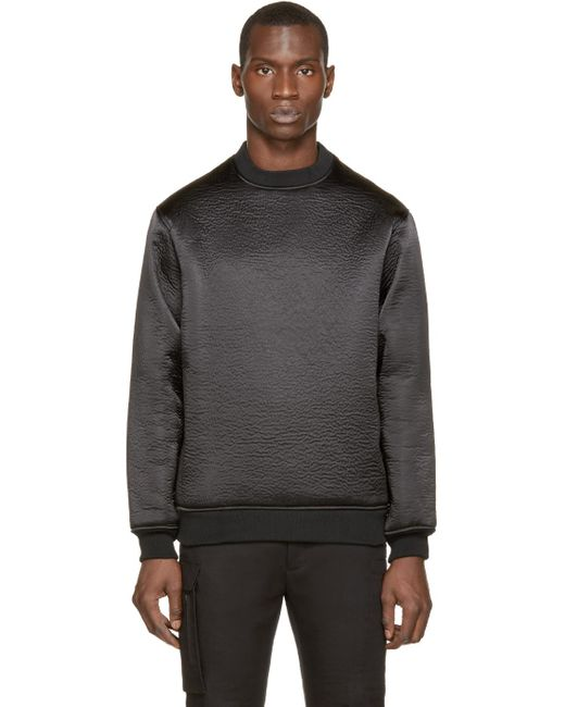 Wanda Nylon | Black Textured Alan Sweater for Men | Lyst