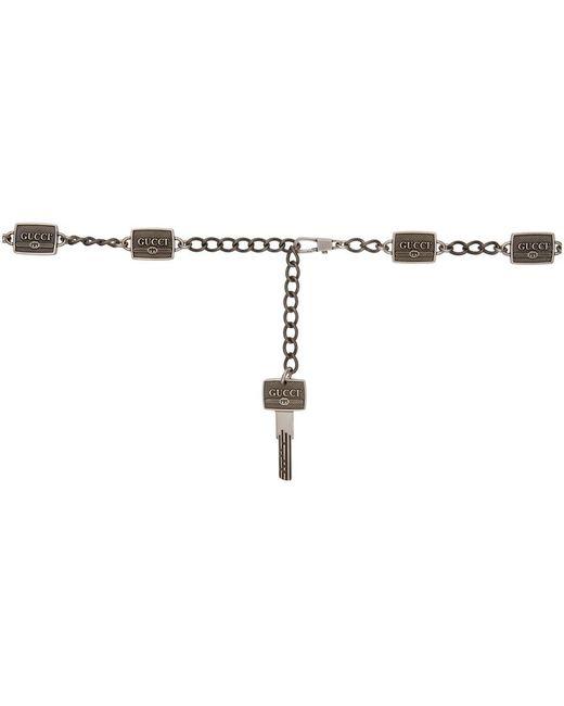Gucci - Black Silver Key Head Metal Belt - Lyst
