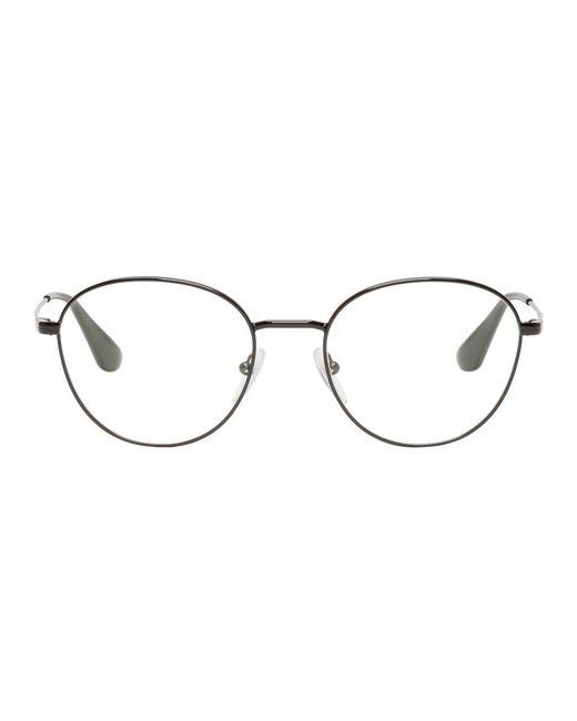 Prada - Multicolor Black Round Glasses - Lyst