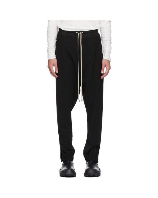 Rick Owens - Black Wool Track Pants for Men - Lyst