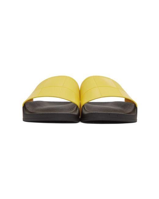 a4f0bdcd0d3eb ... Raf Simons - Yellow Adidas Edition Checkerboard Adilette Slides for Men  - Lyst ...