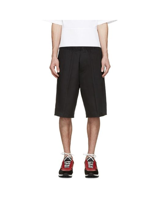 DSquared² - Black Racing Stripe Shorts for Men - Lyst