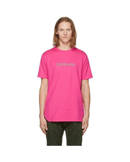 Nonnative - Pink 'color Your Life' T-shirt for Men - Lyst