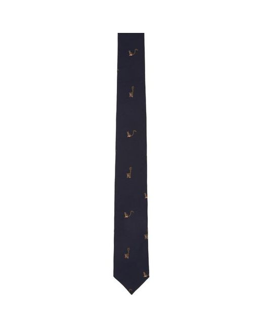 Paul Smith | Blue Navy Silk Rainbow Cats Tie for Men | Lyst