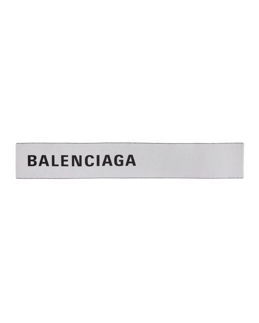 3cb0aa11db Balenciaga - White Foulard a logo blanc et noir Large for Men - Lyst ...