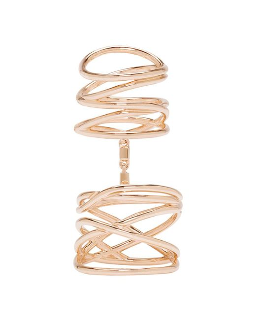 Repossi - Metallic Rose Gold Twin Ring - Lyst