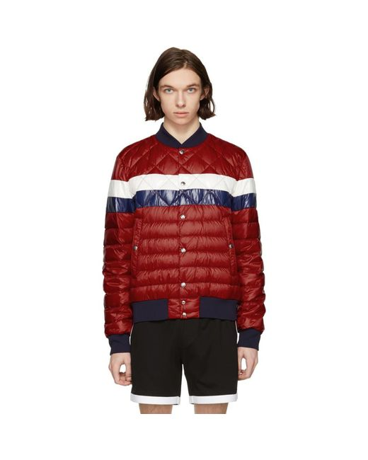 Moncler - Red Down Itiner Jacket for Men - Lyst