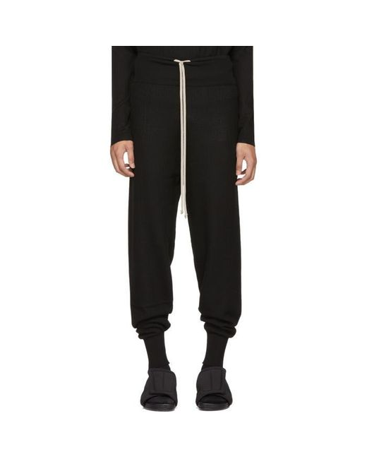 Rick Owens | Black Prisoner Drawstring Lounge Pants for Men | Lyst
