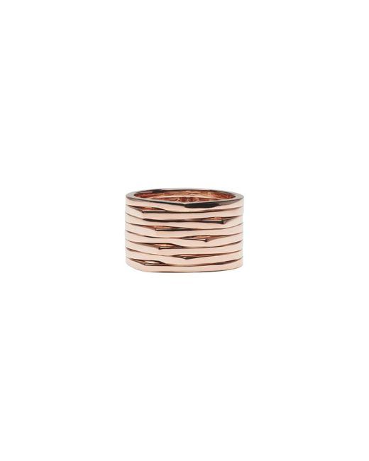 Repossi - Pink Rose Gold 8 Rows Antifer Ring - Lyst