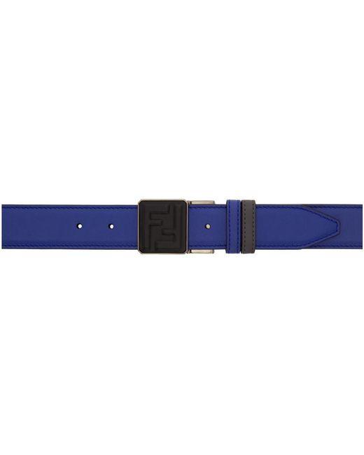 Fendi - Reversible Grey And Blue Forever Belt for Men - Lyst