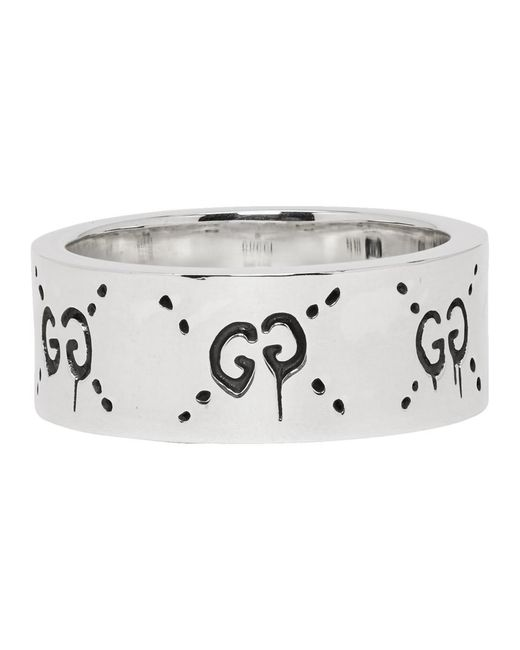 a1ca26667 ... Gucci - Metallic Silver Ghost Ring for Men - Lyst ...
