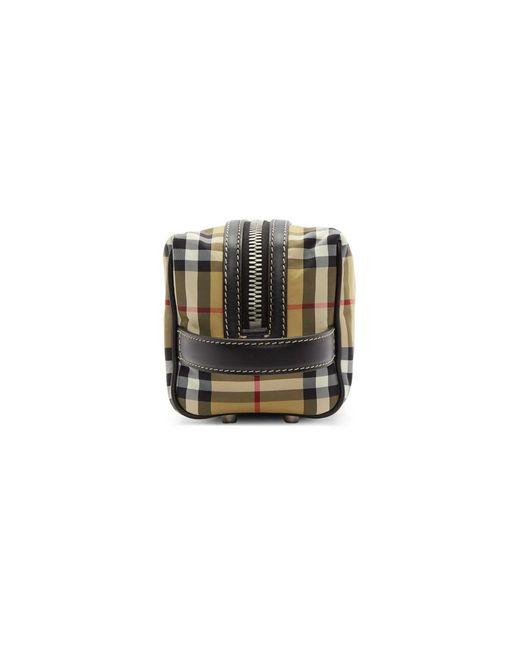 b409a7df57dd ... Burberry - Yellow Beige Vintage Check Washbag - Lyst ...