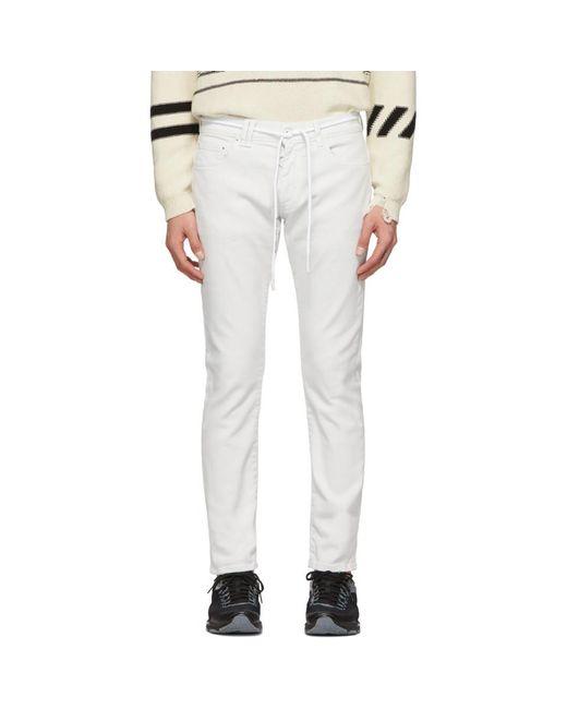 ee6137582b5 Off-White c o Virgil Abloh - Multicolor Skinny Regular Length Jeans for Men  ...