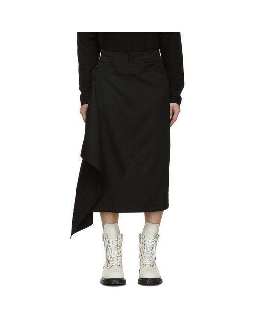 Julius - Black ブラック スカート トラウザーズ for Men - Lyst