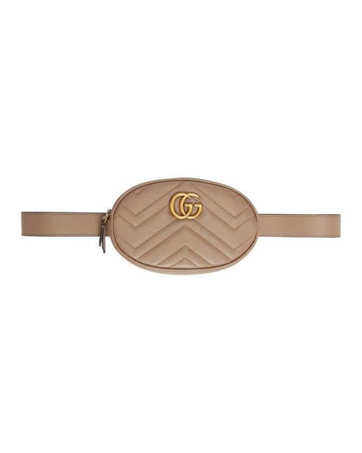 23d9d5a4f56 Gucci Pink GG Marmont 2.0 Belt Pouch in Pink - Lyst