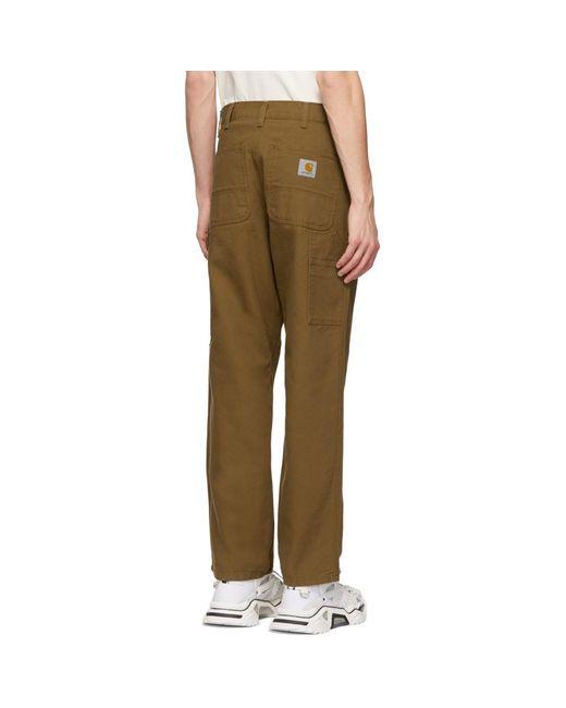 3bbdf395076 ... Carhartt WIP - Brown Single Knee Trousers for Men - Lyst ...