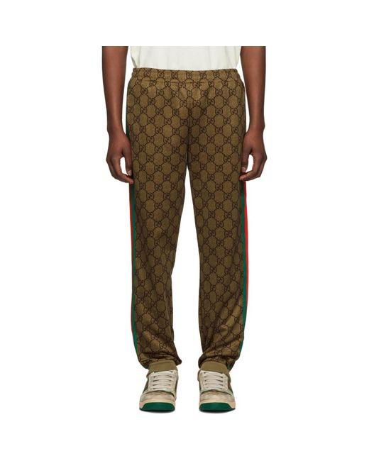Gucci - Brown ブラウン クラシック ロゴ ラウンジ パンツ for Men - Lyst