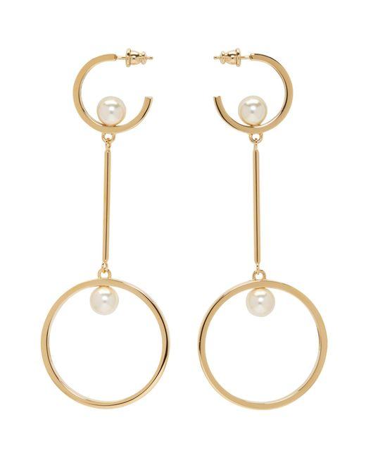 Chloé | Metallic Gold And Pearl Darcey Hoop Earrings | Lyst