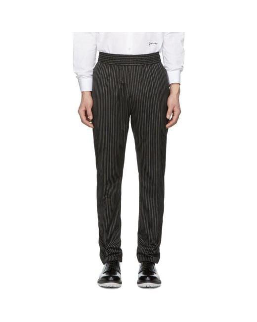 Givenchy - Black ブラック ストライプ トラウザーズ for Men - Lyst