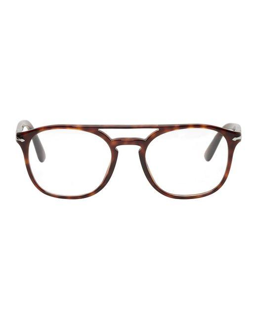 Persol - Brown Tortoiseshell Top Bar Glasses for Men - Lyst