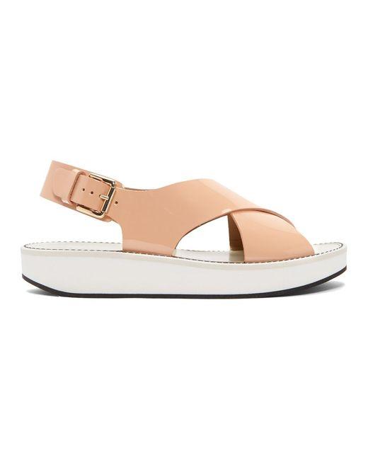Flamingos - White Pink Patent Avalon Sandals - Lyst
