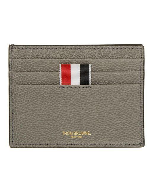 837f664a4126 Thom Browne - Gray Grey 4-bar Card Holder for Men - Lyst ...