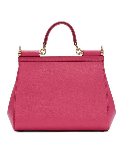 ... Lyst Dolce   Gabbana - Pink Sicily Vitello Stampa Mini Dauphine  Shocking Rose ... 8b73f53b6504e