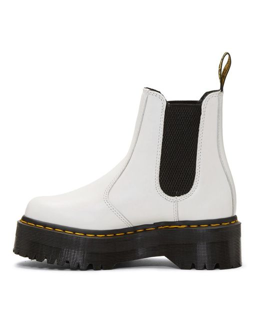 Lyst - Dr. Martens 2976 Quad Chelsea Boots in White - Save 3%