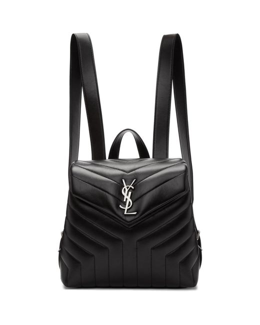 Saint Laurent - Black Small Loulou Backpack - Lyst