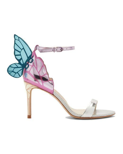 Sophia Webster - Silver Chiara Metallic Mid Sandals - Lyst