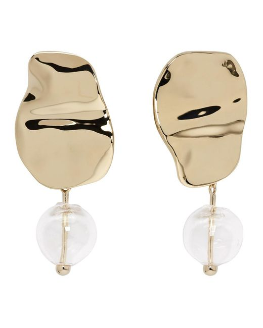 Proenza Schouler - Multicolor Gold And Clear Bead Earrings - Lyst