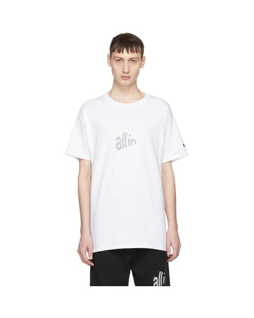 all in | White Champion Edition Signal T-shirt for Men | Lyst