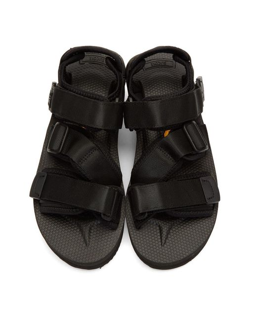 93932fd4285 Lyst - Suicoke Black Kisee-vpo Sandals in Black