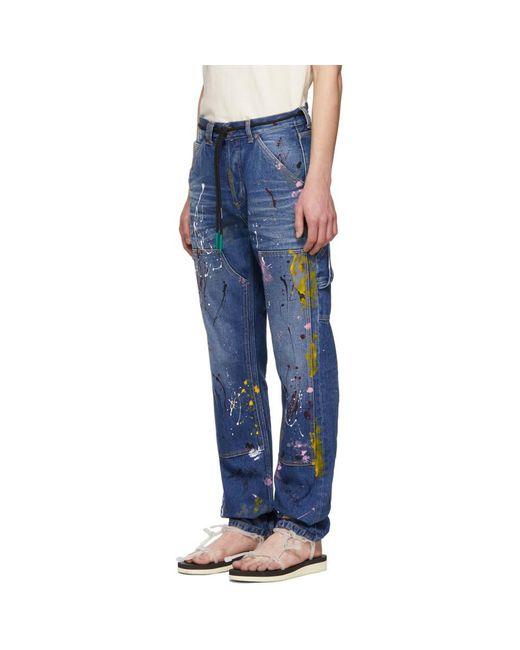 b20cff057dc ... Off-White c o Virgil Abloh - Blue Carpenter Jeans for Men - Lyst ...