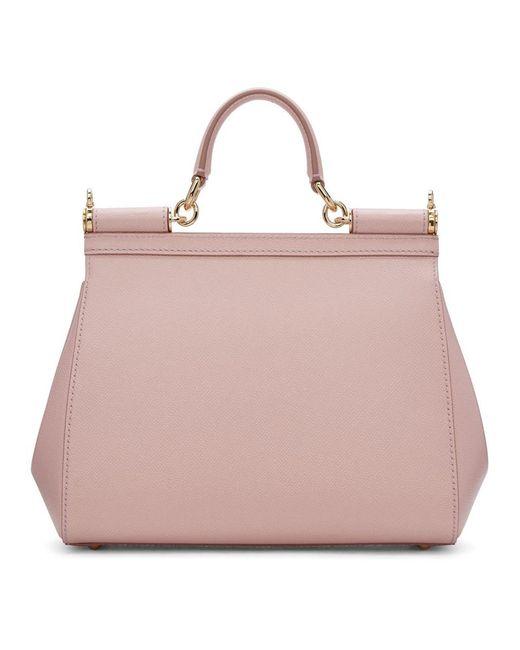 Dolce   Gabbana Pink Medium Miss Sicily Bag in Pink - Save 20.0% - Lyst c22c7e9fd8836