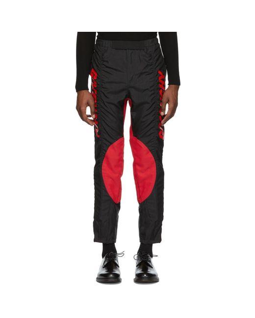 Givenchy - Black ブラック And レッド 2 トーン バイカー パンツ for Men - Lyst