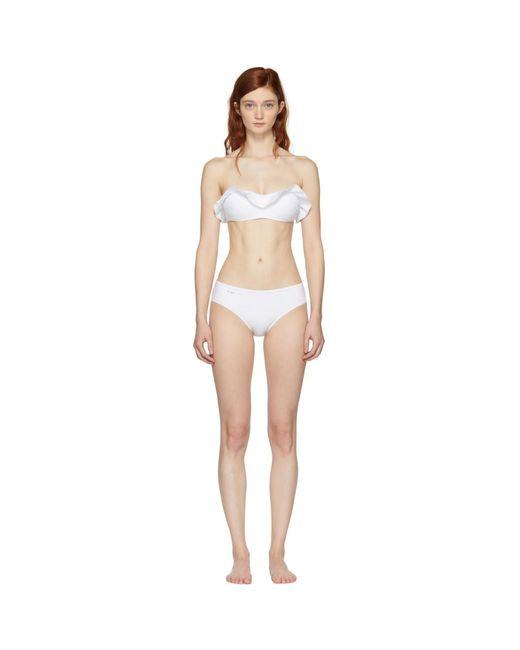 Fendi - White Ruffle Bikini - Lyst