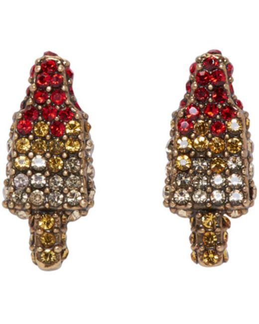 Marc Jacobs | Metallic Gold Poolside Rocket Pop Earrings | Lyst
