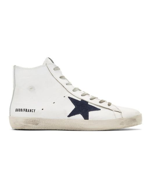 Golden Goose Deluxe Brand - White Francy Hi-top Sneakers for Men - Lyst