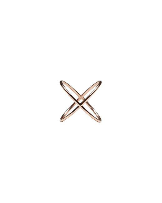 Eva Fehren - Pink Rose Gold X Ring - Lyst