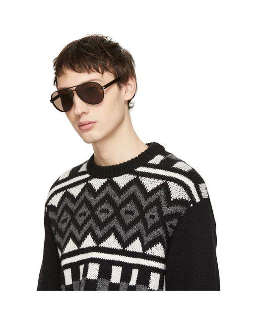 c08d74c98a Lyst - Tom Ford Black Nicholai-02 Sunglasses in Black for Men